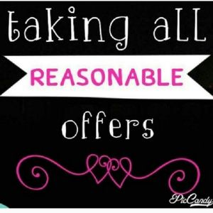 No Reasonable Offer refused😊